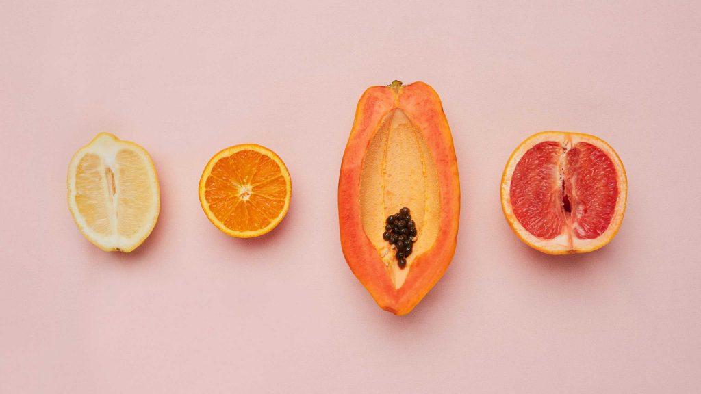 vagina displayed as fruits
